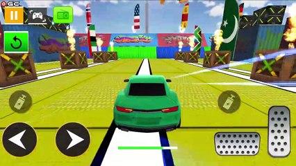 Super Car Stunts Car Games / Crazy Ramp Car Stunt Driver / Android GamePlay