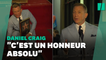 """Daniel Craig a dévoilé son étoile à Hollywood: """"c'est un honneur de se faire marcher dessus"""""""