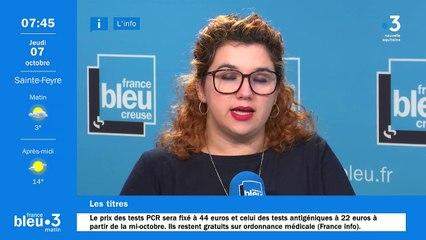 07/10/2021 - Le 6/9 de France Bleu Creuse en vidéo