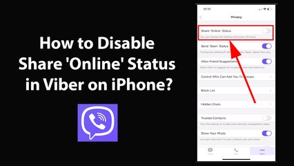 How to Disable Share 'Online' Status in Viber on iPhone?