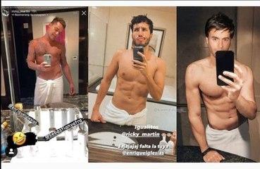 Enrique Iglesias no se atreve a comparar sus abdominales con los de Ricky Martin y Sebastián Yatra
