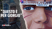 Taranto, Jorit dedica un murales a Giorgio Di Ponzio, 15enne morto di tumore