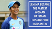 Jemimah becomes the youngest to reach 1000 run in T20