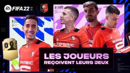 Nayef Aguerd distribue FIFA 22 aux Rouge et Noir !