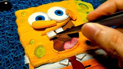 Artist sculpts cartoon characters with paper spirals