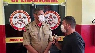 Corpo de Bombeiros de Pombal evita afogamento de jovem em manancial do município