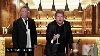Daniel Craig has fun recreating Casino Royale with James Corden