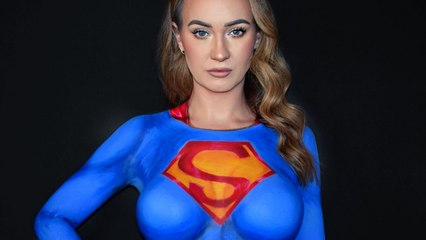 Mom wins the internet with incredible bodypaint transformations