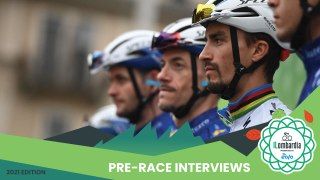 Il Lombardia presented by EOLO 2021 | Pre-race interviews