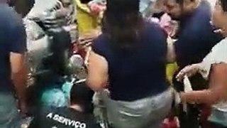 Camionete invade supermercado em Patos e atinge uma pessoa