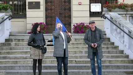 Demonstracja poparcia dla obecności Polski w UE