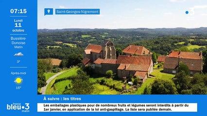 11/10/2021 - Le 6/9 de France Bleu Creuse en vidéo