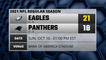 Eagles @ Panthers Game Recap for SUN, OCT 10 - 01:00 PM EST