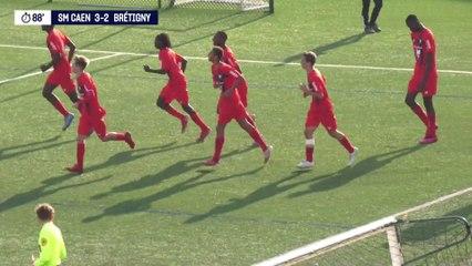 La Rage Caennaise x U17 Nationaux (J7) : Le résumé du match SMCaen 3-2 Brétigny
