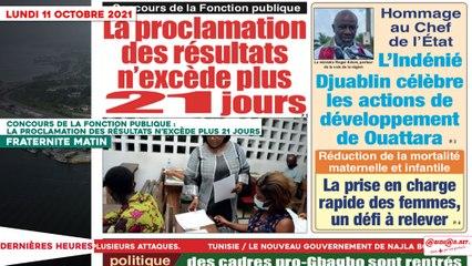 Le Titrologue du 11 Octobre 2021: Concours de la fonction publique, la proclamation des résultats n'excède plus 21 jours