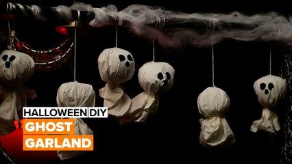Halloween DIY: Ghost Garland