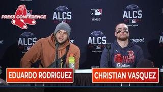 ALCS Game 3 Eduardo Rodriguez and Christian Vasquez Postgame Press Conference