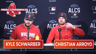 ALCS Game 3 Kyle Schwarber and Christian Arroyo Postgame Press Conference