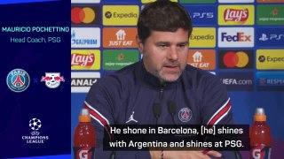 Pochettino backs Messi to 'shine' despite absence of PSG team-mates