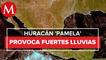Colima se mantiene en alerta por huracán _Pamela_, se reportan fuertes lluvias