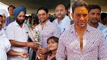 मंत्री बलदेव सिंह ओलखा की मौजूदगी में शुरू हुई निरहुआ -आम्रपाली की 'फसल' की शूटिंग