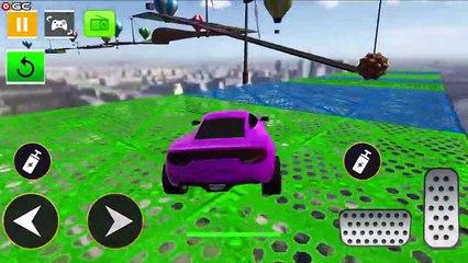 Super Car Stunts Car Games / Crazy Ramp Car Stunt Driver / Android GamePlay #2