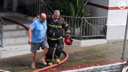 Arnaldo Cesar, proprietário do imóvel que pegou fogo