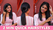 3 Quick & Easy Hairstyles For College & Office Going Girls | Trendy Hairstyles | Say Swag