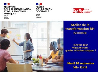 Atelier de la transformation RH du 28 septembre 2021- Région Occitanie