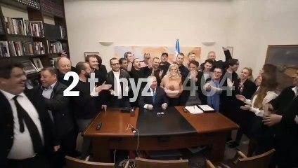 Le député Meyer Habib aux côtés de Benyamin Netanyahou lors des élections législatives de 2020