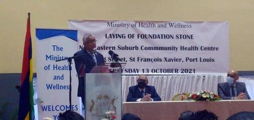 Extrait du discours de Pravind Jugnauth à la pose de la première pierre d'un nouveau dispensaire à Plaine-Verte