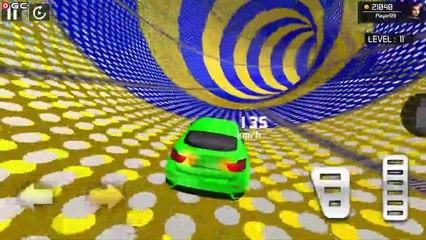 Mega Ramp Car Stunt Game / GREEN CAR / Free Ramp Car Games / Android GamePlay #2