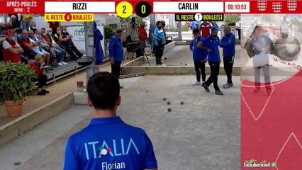 Après Poules ITALIE vs CARLIN : International à pétanque de Monaco - 9 octobre 2021