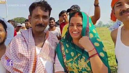 निरहुआ -आम्रपाली की फ़िल्म 'फसल' के सेट पर कलाकारों का शानदार इंटरव्यू