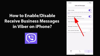 How to Enable/Disable Receive Business Messages in Viber on iPhone?
