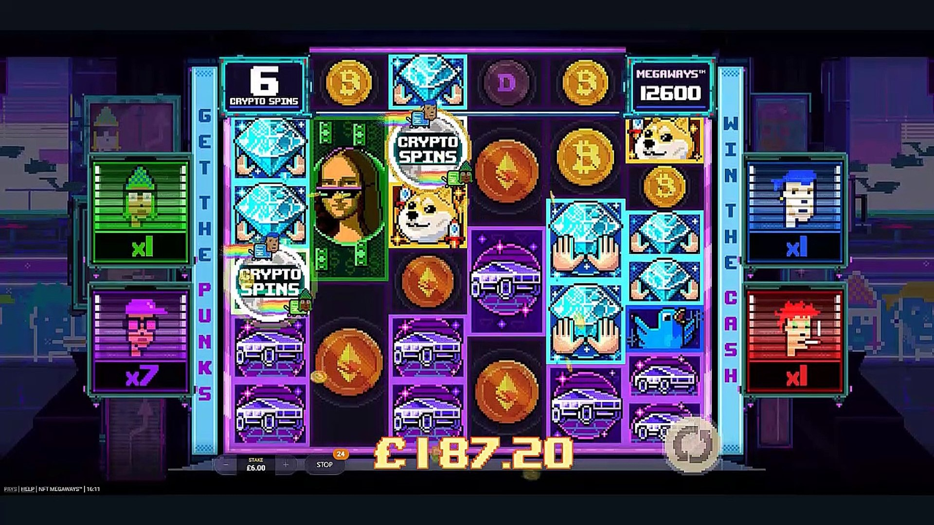 NFT Megaways   Crypto Spins   Demo Play   Red Tiger Gaming