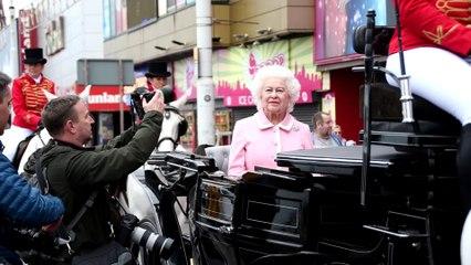 Queen Elizabeth II waxwork arrives at Blackpool's Madame Tussauds