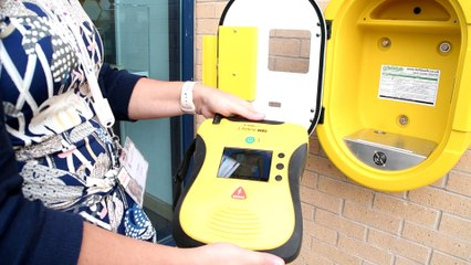 Alcidion fund defibrillator at Business First office in Burnley