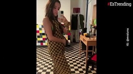 Con adorables imágenes, Evaluna mostró su pancita de embarazada