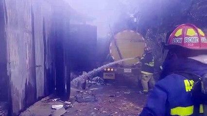 Cohetería se incendia en San Raymundo