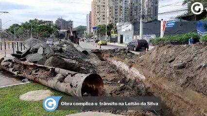 Obra complica o trânsito na Leitão da Silva