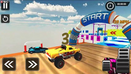 Real Monster Truck Stunts / Crazy Car Stunt Races / Android GamePlay