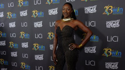 Shiobann Amisial attends the 23rd Women's Image Awards red carpet in Los Angeles