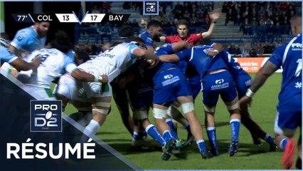 PRO D2 - Résumé Colomiers Rugby-Aviron Bayonnais: 27-26 - J07 - Saison 2021/2022