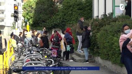 Reportage - Ça coince devant l'école Jules Ferry à Grenoble