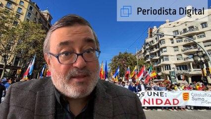 Sergio Fidalgo: Cuando la gente que ama a España se manifiesta en Cataluña lo hace de forma pacífica