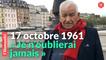 17 octobre 1961: le témoignage de l'un des derniers survivants du massacre