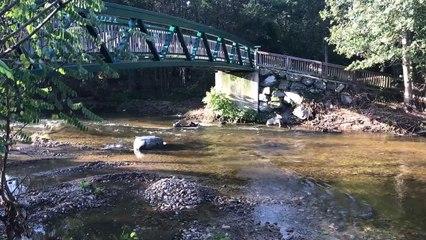 Les berges du lignon restaurées pour les marcheurs du chemin de Compostelle.