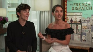 The French Dispatch: Timothee Chalamet & Lyna Khoudri Interview Englisch English (2021)