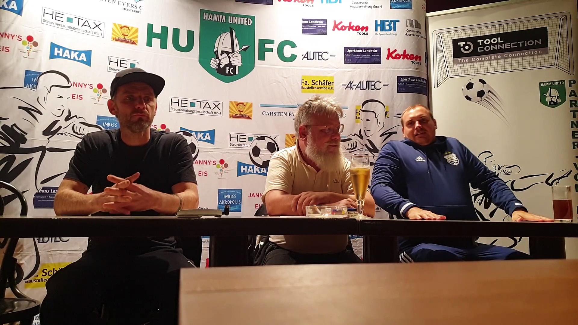 Hamm United FC vs. TuS Dassendorf - die PK im Video!